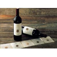 Wholesale Adhesive Paper Wine Label Stickers , Spot UV Surface Handle Printable Wine Labels from china suppliers