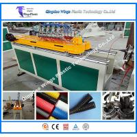 Wholesale High Speed Plastic Extrusion Line PE PP PA Single Wall Corrugated Pipe Production Line Pipe Machine from china suppliers