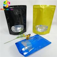 Buy cheap Glossy Surface Stand Up Zipper Pouch Bags Aluminum Foil Smell Proof With Window from wholesalers