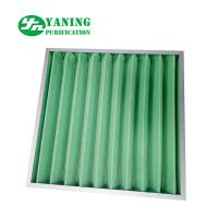 Wholesale Synthetic Fiber Material G4 Pleated Panel Filter 595x595x46mm Aluminum Frame from china suppliers