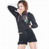 Wholesale Front Embroidered CVC Hoodie from china suppliers