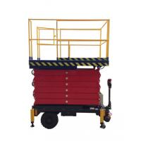Wholesale 6 meters height mobile hydraulic scissor lift with motorized device loading capacity at 450Kg from china suppliers