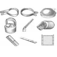 Wholesale Hot Dip Galvanized Chain Link Fence Fittings And Accessories Rust Resistance from china suppliers