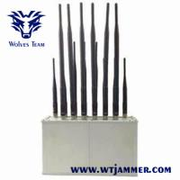 Buy cheap Desktop Mobile Phone Signal Jammer 14 Band VHF UHF Radio For Library from wholesalers
