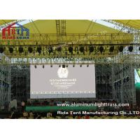 Wholesale Outside Concert Stage Light Truss , Spigot Arc Stage Lighting Frame Solid Structure from china suppliers