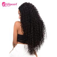 Buy cheap Deep Wave Full Lace Human Hair Wigs For Black Women Remy Hair 8A Grade from wholesalers