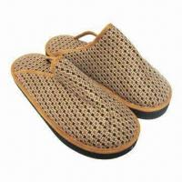 China Illuminating Indoor Slippers with Cotton Fabric Upper, Cotton Fabric Lining, Cotton Fabric Insole on sale