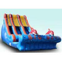 Buy cheap Backyard Large Wave Inflatable Slide For Kids Customized Size And Color from wholesalers