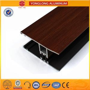 China Wood Grain Stereoscopic Aluminum Window Profiles Environmental Protection on sale