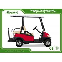 China Electric Golf Carts With 17A Off Board Charger 4 Seaters Red/Trojan Battery on sale