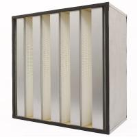China Polypropylene Membrane V Bank Filter With Gi Frame Pleated High Capacity on sale