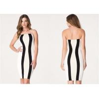 Wholesale Summer Bodice Cocktail Dress Super-Sexy Strapless Color block from china suppliers