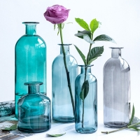 Wholesale Nordic Style Small Mouth Blue Pink Color Dome Shaped Glass Flower Vase from china suppliers