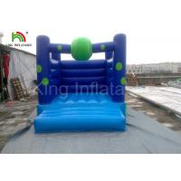 Wholesale Home / Commercial Blue PVC Bouncy Castles Inflatable , Blow up Jumping Castles for Kids from china suppliers