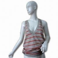 Wholesale Ladies V-neck Vest, Made of Wool, Available Various Colors and Sizes from china suppliers