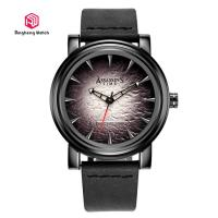 Buy cheap Japanese Quartz Movement Mens Genuine Leather Trap Wrist Watches Round Case from wholesalers