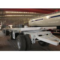 Wholesale 20 ft Double Drawbar Semi Trailer , Shipping Container Flatbed Trailer from china suppliers