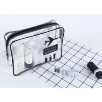 Wholesale Handmade Clear Travel Toiletry Bag / Water Resistant Airline Carrier Bag from china suppliers