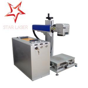 Wholesale Blue 10W Fiber Laser Marking Machine, Pipe Laser Marking Engraving Machine from china suppliers