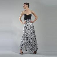 Wholesale Printed Silk Evening Dress from china suppliers