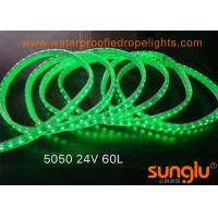 Buy cheap DC24V 5050 PVC LED Tunnel Lights Outdoor LED Rope Lights 10MM Green / Pink from wholesalers