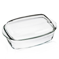 Wholesale High Borosilicate Glass Food Safe Cake Bake Pan Glass Pizza Baking Pan from china suppliers