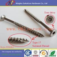 Wholesale 18-8 Stainless Steel Flat Head Torx Drive Decking Screws from china suppliers