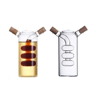 Wholesale Double Hole Separation Borosilicate Glass Olive Oil Bottle from china suppliers