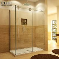 Wholesale Gold Frameless Corner Shower Enclosure , Luxury Etched Glass Shower Doors from china suppliers