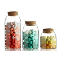 Wholesale 500ml Mouth Blown Kitchen Borosilicate Glass Jars from china suppliers
