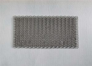 Wholesale 8x8 Inch Stainless Steel Cast Iron Pan Cleaner Chainmail Scrubbers from china suppliers