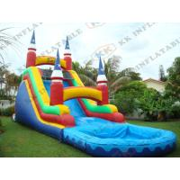 China Commercial Grade Inflatable Water Slides Games Fire Proof 0.9mm Pvc on sale