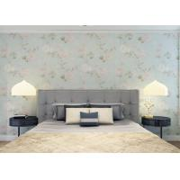 Wholesale Moisture Proof Country Floral Wallpaper / PVC Embossed Wall Covering For Living Room from china suppliers