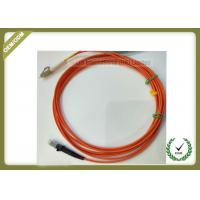 Buy cheap 2M Multimode Fiber Optic Patch Cord Dual Core 50 / 125 With Orange Color from wholesalers