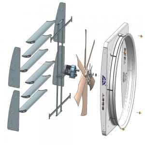 "Wholesale PE Frame Animal Husbandry Equipment 72"" Fiberglass Livestock Ventilation Fans from china suppliers"