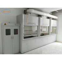 China Anti Strongest Acid  Alakli White / Blue Steel Fume Hood For Chemical Factory  / School  /  Hospital on sale