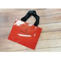 Wholesale Red oil filmed Recyclable Paper Shopping Bags SGS,FDA ceritified Metallic Foil Logo with black silk Handle from china suppliers