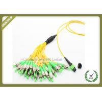 Buy cheap Single Mode Fiber Optic Patch Cord , Optical Fiber Jumper With Yellow Color from wholesalers
