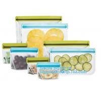 Wholesale Food Grade Leakproof Fresh Large Zipper Freezer Reusable Silicone Food Preservation Storage Bags With Bagplastic from china suppliers