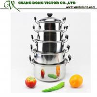 Wholesale 5pcs Stainless Steel cookware American Style High Pan panci set 5 pots 16cm, 18cm, 20cm, 22cm, 24cm from china suppliers