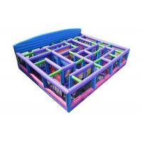 Buy cheap 0.55mm PVC High Quality Funny Inflatables Maze Kids Playground With Blower from wholesalers
