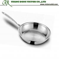 Wholesale Promotion Tri-plystainless steel frying pan without lid 26cm heavy and high quality from china suppliers