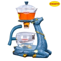 Wholesale 300ml Transparent Deer Type Heat Resistant Glass Teapot from china suppliers