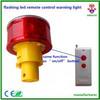 Wholesale flashing led remote control warning light/remote controlled strobe lights/Solar Powered Rechargeable 12pcs Led Warning F from china suppliers