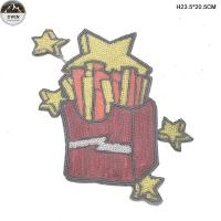 Buy cheap Custom Sequin Embroidery Patches With Merrow Border / Die Cut Border from wholesalers