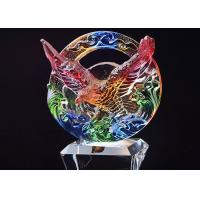 Buy cheap Crystal Base Trophies And Awards With Colored Glaze Eagle On The Top from wholesalers