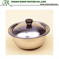 Wholesale Wholesales Promotion Stainless steel bowl with lid 18cm 20cm 22cm 24cm 26cm 28cm 30cm 32cm from china suppliers