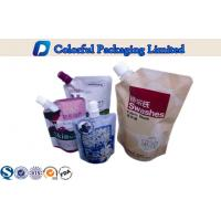 Wholesale Laminated Stand Up Pouch With Spout , reusable liquid pouch packaging from china suppliers