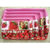 China Fruit Flower Tray Series Plastic rectangle tray with handle on sale