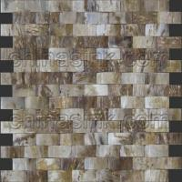 Wholesale arc 3D unique stone mosaic tiles fossil petrified wood mosaic tile 95 from china suppliers